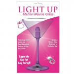 Light Up Martini Weenie Glass-Purple