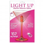 Light Up Martini Weenie Glass-Red