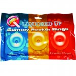 Liquored Up Pecker Gummy Rings-3pk (Bahama Mama, Mai Tai and Strawberry Daiquiri
