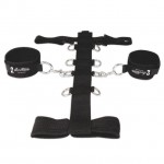 Lux Fetish 3PC Adjustable Neck & Wristraint Set (Black)