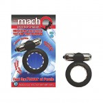Macho 2X Cock & Balls Ring with Clit Stimulator (Black)