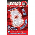 Macho Crystal Collection Double Ring (Clear)