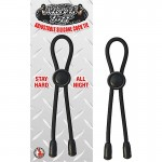 Mack Tuff Adjustable Silicone Cock Tie Black