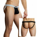 Male Power Athletic Mesh Sport Jock Black L/XL