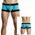 Male Power Athletic Mesh Sport Mini Short Turquoise Med