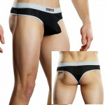 Male Power Athletic Mesh Sport Thong Black Sml