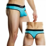 Male Power Athletic Mesh Sport Thong Turquoise Lrg