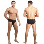 Male Power Bamboo Thruster Bikini Black Med