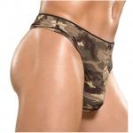 Male Power Camo Panel Thong (Medium) Underwear