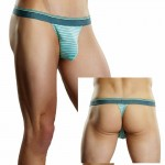 Male Power Heather Stripe Bong Thong Mint S/M