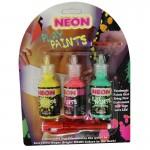 Neon Body Paints 3pk Card