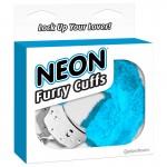 Neon Furry Cuffs - Blue