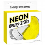 Neon Furry Cuffs - Yellow