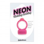 Neon Vibrating Cockring Pink