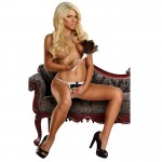 OMGstrings Crotchless French Maid G-string Black Queen