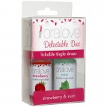 OraLove 2 Pack Tingling Duo Strawberry & Mint