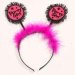 Party Girl Headband-Blk/Pink