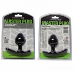 PF Master Plug Black TPR Circumference Of 4.8in. Insertable Length 3in.