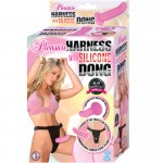 Pleasure Harness with Silicone Dong (Pink)