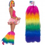 Rainbow Fur Leg Covers Std