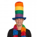 Rainbow Tall Hat