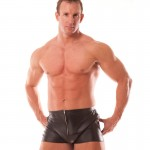 Rapture Male Leather Shorts Large