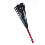 full view of the red hydra high strength silicone flogger