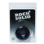 Rock Solid 3X Black Donut C Ring in a Clamshell