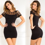 Sexy Sophisticated Seamless Dress Black S/M