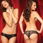Sg Shining Star Sequin Front Tanga Blk M