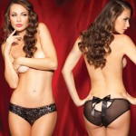 Sg Solo Act Sequin Front Hipster Blk L