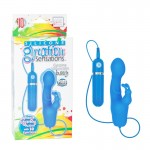 Silicone Gyration Sensations Gyrating 10-Function Bunny - Blue