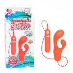Silicone Gyration Sensations Gyrating 10-Function Tickler - Orange