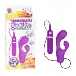 Silicone Gyration Sensations Gyrating 10-Function Tickler - Purple