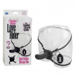 Silicone Love Rider Dual Action Strap-On - Black 7-Function
