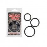 Silicone Support Rings - Black 3pk