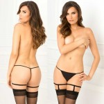 Simple Sexy Black Garters M/L