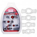 Size Matters 4 Pack Clear Pull Tab Cock Rings