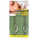 Spartacus Endurance Nipple Clamps Light Point Clamps With Curbed Chain
