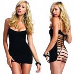 Strappy Back Seamless Mini Dress O/S Black