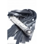 the ingus leather floggers. lay down view