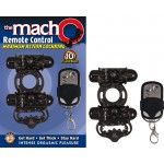 The Macho Remote Control Maximum Action Dual Stimulating Cockring, Waterproof, 10 Function Black