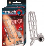 The Macho Vibrating Cockcage,Waterproof Clear