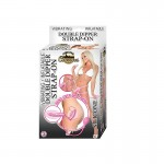 Timeless Classic Vibrator/Inflatable Double Strap On-Pink