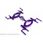Purple basket case hand cuffs detail view - bondage restraints by Sexandmetal.com