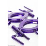 trans-purple detachable bondage wrist restraints, the wrist traps by Sexandmetal.com