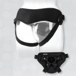 Vac-U-Lock Platinum - Supreme Harness - With Plug Black