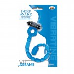 Wet Dreams Vibrating Deep Snake Cockring-Blue