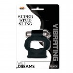 Wet Dreams VibratingSuper Stud Sling-Black