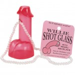 Willie Shot Glass W/Pearl Necklace